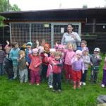 Návštěva školky Řasnice u nás v útulku