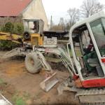 Dlažba v útulku – zemní práce