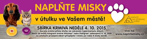 Pomozte naplnit misky v útulcích v Oc Nisa Liberec